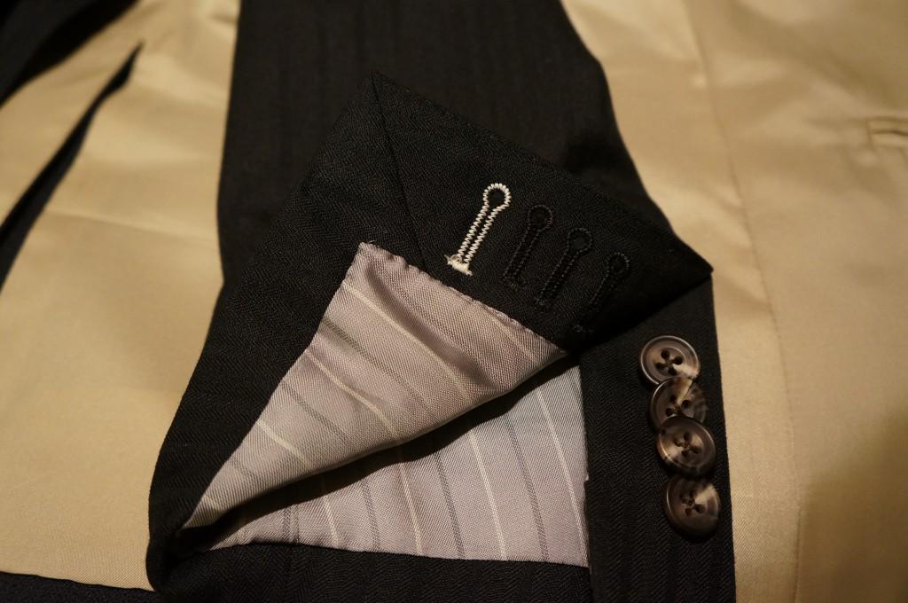 麻布テーラー袖口裏